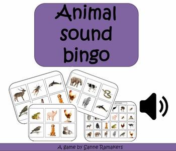 Animal sound bingo