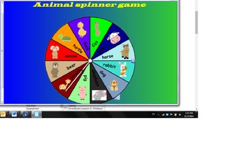 Animal spinner game by smartboard