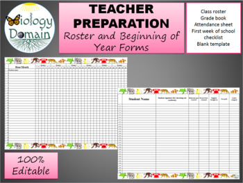 blank roster teaching resources teachers pay teachers