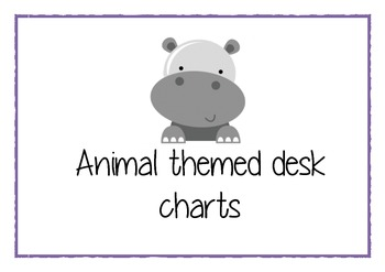 Animal themed desk charts