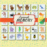 Animal themed memory cards game