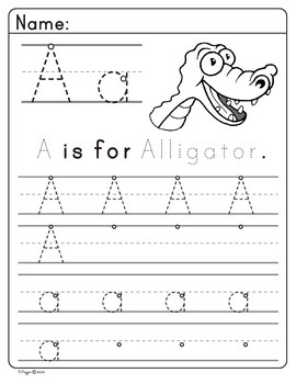 Animal trace letters (A-B)