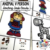 Animal v People Sorting Categories Task Cards