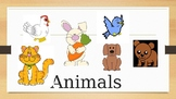 Animal vocabulary Powerpoint presentation
