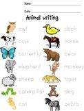 Animal vocabulary and FMC writing