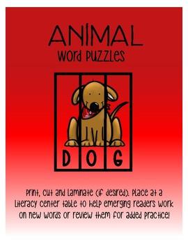 Animal word puzzles