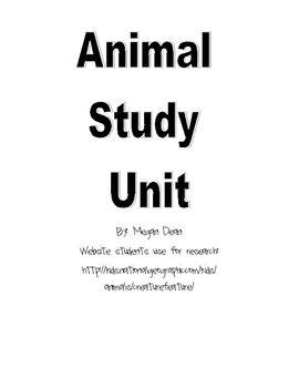 Animal/Habitat Study