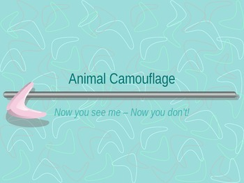 Animal/Insect Camouflage PowerPoint