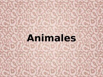 Animales Spanish animal vocabulary