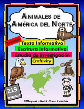 Animales de America del Norte North America Animals ReadingWriting ResearchText
