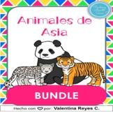 Animales de Asia BUNDLE - Asian animals in Spanish BUNDLE