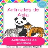 Animales de Asia Escritura - Writing in Spanish Asian anim