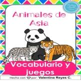 Animales de Asia vocabulario y juegos - Asian animals in S