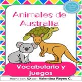 Animales de Australia vocabulario - Animals from Australia
