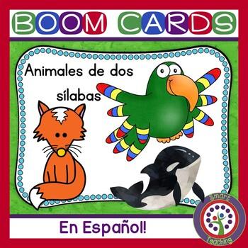 Animales de dos sílabas - Reading, Spelling, and Spanish Vocabulary