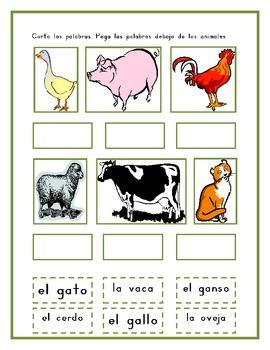 animales de granja farm animals in spanish worksheets by jer520 llc. Black Bedroom Furniture Sets. Home Design Ideas