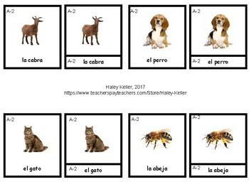 Animales de la Granja 3 Part Cards