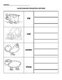 Animales de la Granja (Farm Animals) Spanish Vocabulary