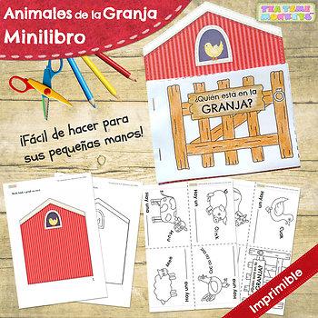 Animales de la Granja Minilibro - Farm Animals Minibook in Spanish