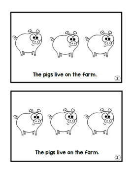 Animales de la granja libros/ Farm Animals Emergent Readers Spanish and English