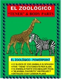 "Spanish ""TENER"" Practice - Describe the Zoo Animals & Learn Body Parts"