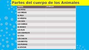 "Spanish ""TENER"" Practice - Describe the Zoo Animals & Learn Body Parts"