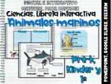Animales del oceáno: Libreta interactiva ⏺PowerPoint, Seesaw, G. Slides.