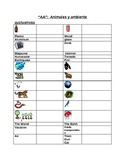 Animales y Ambiente: Vocab / Animales & Environment Vocab