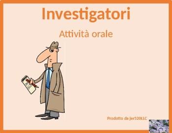 Animali (Animals in Italian) Detectives Speaking activity