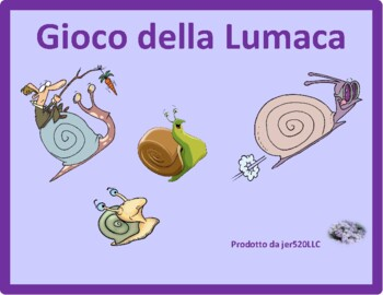 Animali (Animals in Italian) Lumaca Snail game