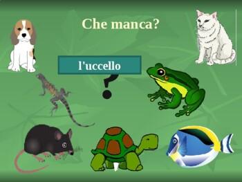 Animali (Animals in Italian) PowerPoint