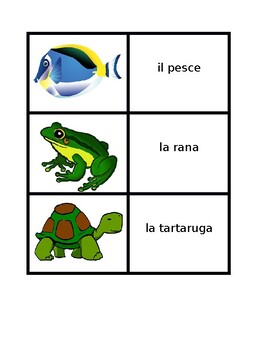 Animali (Animals in Italian) Concentration Games