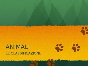 Animali Classificazione PPT