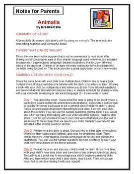 Animalia Parent Notes