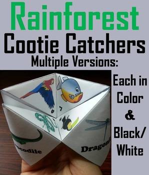 Animal Activities Cootie Catcher Bundle