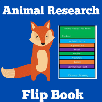 Animal Research Graphic Organizer | Animal Research Report Template