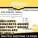 Nouns Practice   Parts of Speech   ELA Grade 3-4   Test Prep