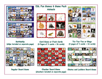 Animals 6 Board Game Bundle