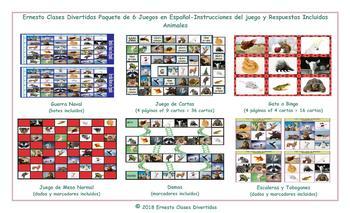 Animals 6 Spanish Photo Game Bundle