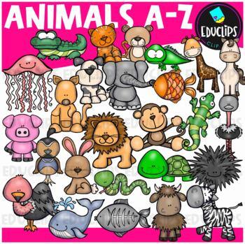Animals A-Z Clip Art Bundle {Educlips Clipart}