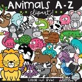 Animals A-Z Clipart {alphabet clipart}