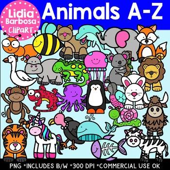 Animals A-Z Clipart Bundle
