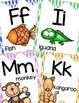 Alphabet Posters, Animals A to Z, Classroom Decor, (Diamond)