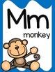 Alphabet Posters, Animals A to Z, Classroom Decor,  (Bright Blue)