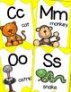 Alphabet Posters, Animals A to Z, Classroom Decor, (Bright