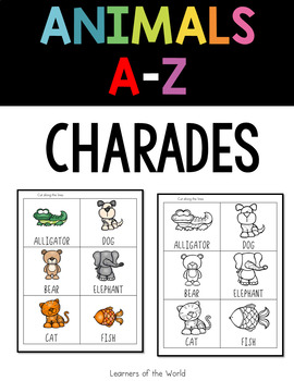 Animals A to Z Charades