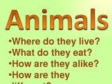 Animals- A virtual field trip