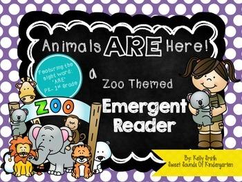Animals ARE Here!- Emergent Reader