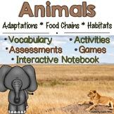 Animal Adaptations, Food Chains and Habitats