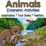 Animal Adaptations, Food Chains and Habitats Extension Activities and Games